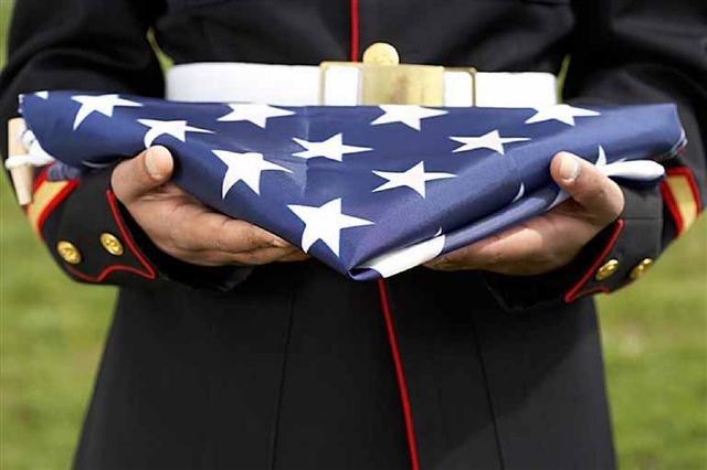 Moles Folded Marine Flag